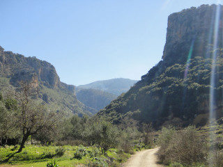 Rozas gorge on Crete Greece
