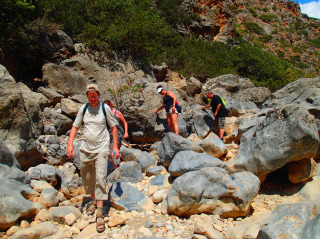 hiking on crete 1322