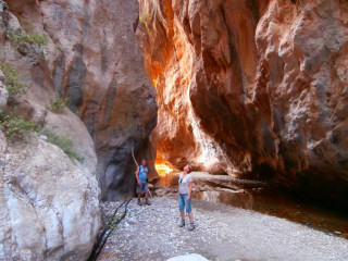 Walks and hikes in Crete east Sarakina gorge5670