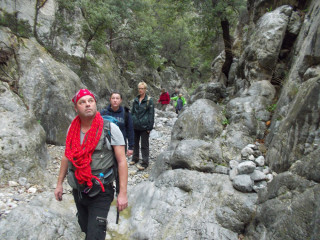 walking Kritsa Gorge Crete Greece