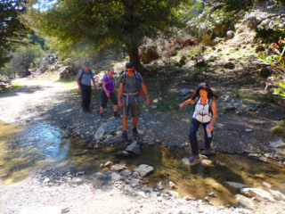 Walking-in-small-groups-on-Crete-greece